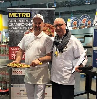 Fabien Saint Aubin, chef Pizzaïolo avec Jean-Jacques Despaux formateur pizzaïolo, France pizza Tour 2019